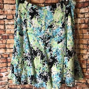 Nu options Petite Skirts - Floral skirt size 12P short and fit/ flare shape